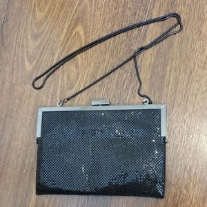 Zara black evening clutch